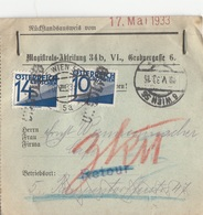 Ö-Nachporto 1933 - 10 + 14 Gro Nachporto Auf Rückstandsausweis - Portomarken