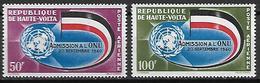 HAUTE VOLTA  -  Poste Aérienne  -  1962  .  Y&T N° 5 à 6 **.  Admission à L' ONU  /  Drapeau - Alto Volta (1958-1984)