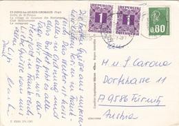 Ö-Nachporto 1977 - 2 X 1 S Nachporto + 0,80 F Auf Ak ST.PONS-les-MURES-GRIMAUD (Var) - Portomarken