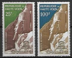 HAUTE VOLTA  -  Poste Aérienne  -  1964 .Y&T N° 12 à 13 **.  UNESCO  /  Monuments De Nubie. - Alto Volta (1958-1984)