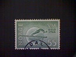Norway (Norge), Scott #487, Used (o), 1966, Ski Jump, 55ø, Dull Green - Norvège