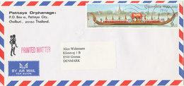 Thailand Air Mail Cover Sent To Denmark Single Franked - Thaïlande