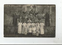 BONNES NOUVELLES CARTE PHOTO ANCIENNE FETE ANIMEE - Postcards