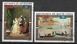 HAUTE VOLTA  -  Poste Aérienne  -  1972 . Y&T N° 100 à 101 Oblitérés..  Tableaux De Maîtres. - Alto Volta (1958-1984)