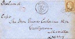 Seine-et-Oise - LAC Affr N° 30 Obl GC 2320 C 17 Mereville - Pour L'Irlande (destination Peu Commune!) - 1849-1876: Periodo Classico