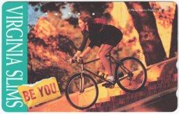 JAPAN K-825 Magnetic NTT [110-011] - Advertising, Cigarettes, Virginia Slims - Used - Japan
