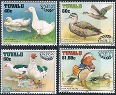 MDB-BK4-345 MINT ¤ TUVALU 1997 4w In Serie ¤  OISEAUX - BIRDS - PAJAROS - VOGELS - VÖGEL - - Ducks