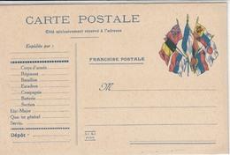 France CPFM Avec Faisceau De 7 Drapeaux, Impr Ad Kz à Paris, Non Circulée - Marcophilie (Lettres)