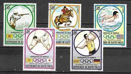 HAUTE VOLTA  -  Poste Aérienne  -  1973.  Y&T N° 120 à 124  Oblitérés..  JO De Munich.  Série Complète. - Alto Volta (1958-1984)