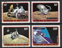 HAUTE VOLTA   -   Poste Aérienne  -  1973. Y&T 135 à 137 + 139 Oblitérés.  Espace  /  Cosmos. - Alto Volta (1958-1984)