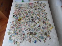 Gros Lot, Vrac 620 Gr De Milliers De Timbres  Thématique Fleurs, Fruits, Agrumes, Plantes..Multiples Tous Pays - B/TB - - Postzegels