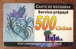 HAÏTI 500 GDES CARTE PRÉPAYÉE PREPAID CARTES TÉLÉPHONIQUE PHONECARD CARD - Haïti