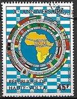 HAUTE VOLTA  -  Poste Aérienne  -  1973 .  Y&T N° 154 Oblitéré.  O.U.A.. - Alto Volta (1958-1984)