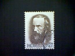 Norway, Scott #515, Used(o), 1968, A. O. Vinje, 50ø, Sepia - Norvège