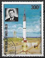 HAUTE VOLTA  -  Poste Aérienne  -  1973 .  Y&T N° 161 Oblitéré.  J-F. Kennedy  /  Fusée - Alto Volta (1958-1984)