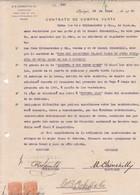 CONTRATO DE COMPRA VENTA, SACOS DE AVENA OATS L'AVOINE. AÑO 1920 IQUIQUE, CHILE. CON SELLOS FISCALES. E G LOAYZA -LILHU - Invoices & Commercial Documents