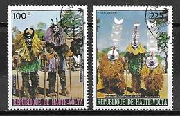 HAUTE VOLTA  -  Poste Aérienne  -  1973 . Y&T N° 166 à 167 Oblitérés.   Costumes  /  Danses - Alto Volta (1958-1984)