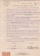 CONTRATO DE COMPRA VENTA, SACOS DE CEBADA BARLEY ORGE. AÑO 1920 IQUIQUE, CHILE. CON SELLOS FISCALES. G B LOCKETT -LILHU - Invoices & Commercial Documents