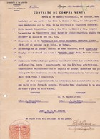 CONTRATO DE COMPRA VENTA, SACOS DE AZUCAR SUGAR SUCRE. AÑO 1920 IQUIQUE, CHILE. CON SELLOS FISCALES. E G LOAYZA -LILHU - Invoices & Commercial Documents
