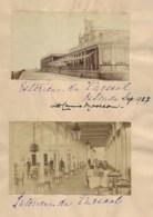 270520 - 3 PHOTOS ANCIENNES - 1927 BELGIQUE OSTENDE KURSAAL Intérieur Et Extérieur Monument Place Des Martyrs - Oostende