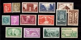 France Belle Petite Collection De Bonnes Valeurs Neufs * 1925/1938. Gommes D'origine. B/TB. A Saisir! - Collections