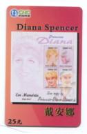 Télécarte CNC - Diana Spencer - Personen