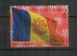 ANDORRA. Bandera D'Andorra /Drapeau D'Andorre. (Poder és Més Fort) Timbre Neuf ** 2020 - Sellos
