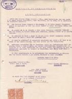 CONTRATO DE COMPRA VENTA, SACOS DE AVENA OATS L'AVOINE. AÑO 1920 IQUIQUE, CHILE. CON SELLOS FISCALES. LOCKETT -LILHU - Invoices & Commercial Documents