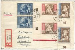 ALEMANIA BERLIN 1943 CC CERTIFICADO CONFERENCIA POSTAL WIEN SERIE ORDINARIA+ SOBRECARGADA 19 OKT 194 - Germany