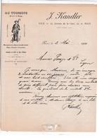 """06-J.Kandler.."""" Au Touriste """" ...Maroquinerie, Bijouterie, Eventails....Nice....(Alpes-Maritimes)..1940 - Straßenhandel Und Kleingewerbe"""