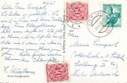 Ö-Nachporto 1960 - 30 + 50 Gro Nachporto + 70 Gro Auf Ak WIEN STEPHANSDOM - Portomarken