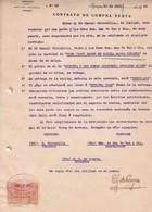 CONTRATO DE COMPRA VENTA, SACOS DE HARINA FLOUR FARINE. AÑO 1920 IQUIQUE, CHILE. CON SELLOS FISCALES. LOAYZA -LILHU - Invoices & Commercial Documents