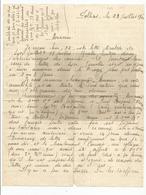Militaria Lettre écrite De Polliat Ain 01 Le  23/07/1940 Récit Combat De Pontarlier  Valdahon  Alsace 1er Bataillon .... - Dokumente