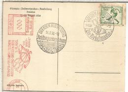 ALEMANIA 3 REICH DRESDEN TP OLYMPIA AUSSTELLUNG MAT ESPECIAL X 2 Y FRANQUEO MECANICO - Summer 1936: Berlin