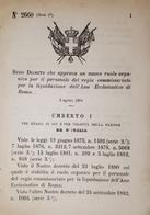 Decreto Regno Italia - R. Commissariato Liquidazione Ass Ecclesiastico Roma 1884 - Old Paper