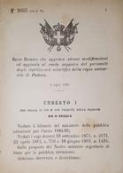 Decreto Regno Italia Ruolo Del Personale Stabilimenti Scientifici Di Padova 1884 - Old Paper