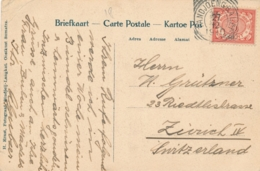 Nederlands Indië - 1910 - 5 Cent Cijfer, NVPH 46 Enkelfrankering Van VK TANDJOENGBALEI Naar Zürich - Kampong Boekoem - Indes Néerlandaises
