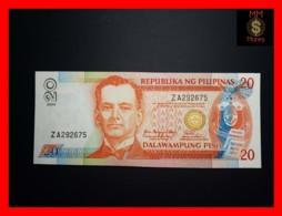 PHILIPPINES 20 Piso 2006 P. 182 J  Black Serial  UNC - Filipinas