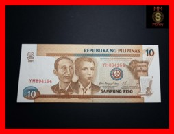 PHILIPPINES 10 Piso 2001 P. 187 H Red Serial   UNC - Filippijnen