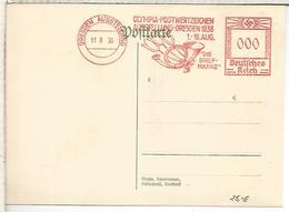 ALEMANIA 3 REICH DRESDEN  FRANQUEO MECANICO OLYMPIA JUEGOS OLIMPICOS BERLIN 1936 - Summer 1936: Berlin