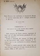 Decreto Regno Italia - Costituzione Comune Di Nozza In Sezione Di Brescia - 1884 - Vieux Papiers
