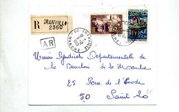 Lettre Recommandée Grandville Sur Val Enclave - Marcophilie (Lettres)