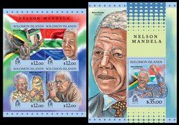 SOLOMON Isl. 2016 - Mandela, FIFA Cup In South Africa - YT CV=19 €, 3209-12 - Fußball-Weltmeisterschaft