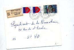 Lettre Recommandée Saint Martin De Landelles  Sur Val Lo - Marcophilie (Lettres)