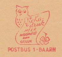 Meter Cut Netherlands 1961 Bird - Owl - Vogels