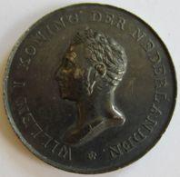 AG01858  WILLEM KONING DER NEDERLANDEN  - 1820 - Son Buste (Ag34g) - Royal/Of Nobility