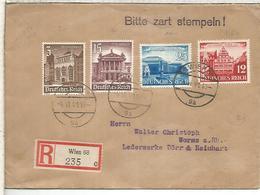 ALEMANIA 3 REICH WIEN CC CERTIFICADA 1941 ARQUITECTURA LEIPZIG MESSE - Germany