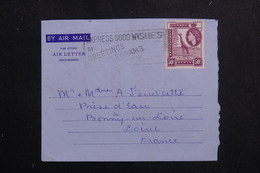 KENYA / OUGANDA / TANGANYIKA - Aérogramme De Mombasa Pour La France  - L 61531 - Kenya, Uganda & Tanganyika