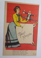 Neujahr, Frauen, Männer, Hampelmann,   1909   ♥  (69626) - Nouvel An