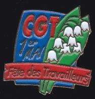 65272-Pin's.Syndicat CGT.1er Mai.Muguet. - Administración